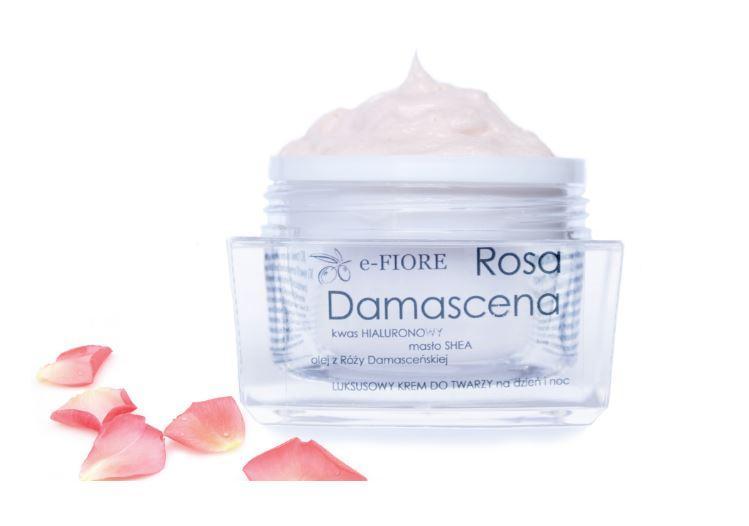 Натуральный крем против морщин Дамасская роза (Damascena Rose) и гиалуроновой кислотой e-FIORE 60мл