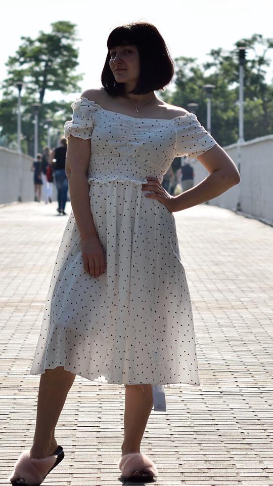 Платье миди женское летнее