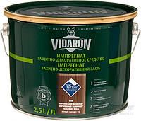 Пропитка для дерева с биозащитой Импрегнат Vidaron (V08 королевский палисандр) 2,5 л