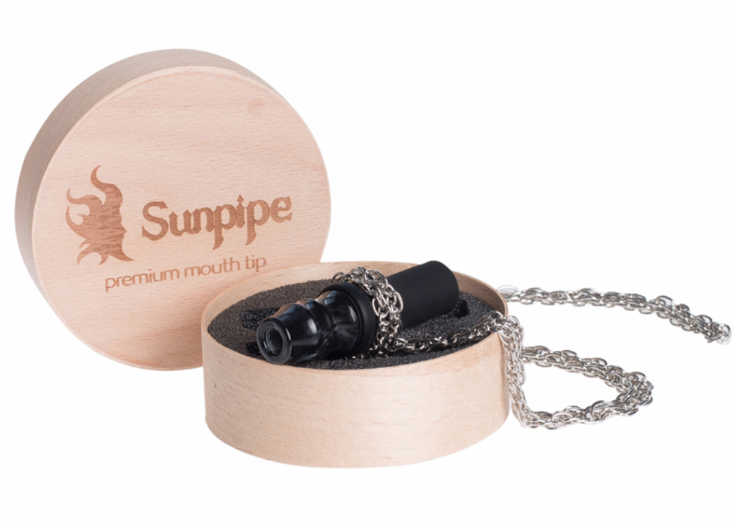 Персональный мундштук Sunpipe, Санпайп Premium Mini Black (на цепочке)