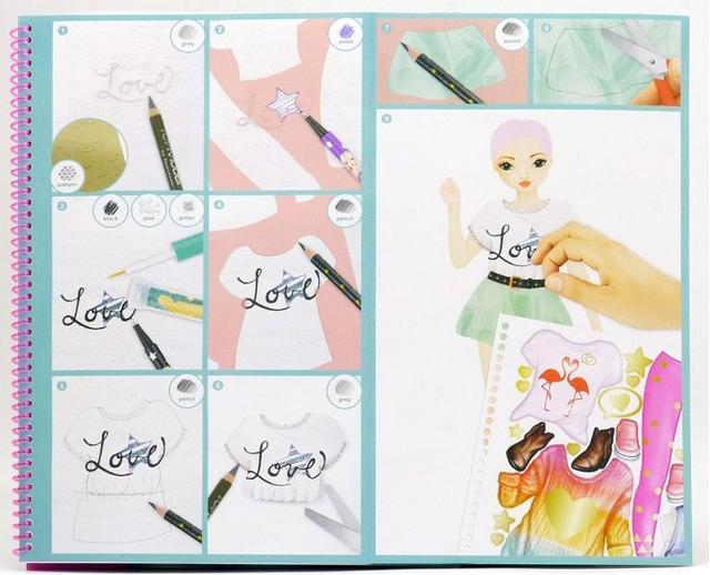 Книга-раскраска Top Model Flamingo