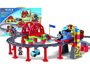 """Конструктор для мальчиков, детский конструктор железная дорога, вагончик """"Томас"""" JIXIN 8288 D (60 дет)"""