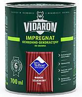Пропитка для дерева с биозащитой Импрегнат Vidaron (V15 благородное красное дерево) 0,7 л