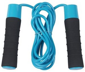 Скакалка утяжеленная с рукоятками 2*300 г SportVida со встроенными подшипниками и ПВХ-жгутом, длина - 2,7 м
