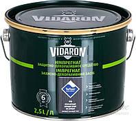 Пропитка для дерева с биозащитой Импрегнат Vidaron (V16 серый антрацит) 2,5 л