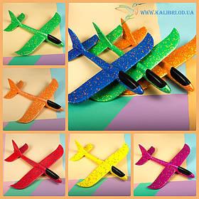 Самолет планер из пенопласта 6 цветов, 47 см