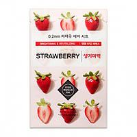 Осветляющая маска для лица с экстрактом клубники Etude House 0.2 Therapy Air Mask Strawberry
