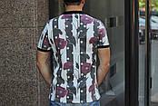 Модная мужская футболка- поло в модных летних принтах S, M, L, XL, XXL, фото 2