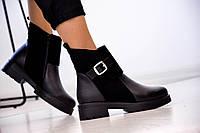 Женские кожаные ботинки Cardellino с замшевыми вставками