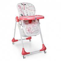 Стульчик для кормления 3в1. 60х88х109 см. Удобен и функционален. Розовый. Bambi 3233-17