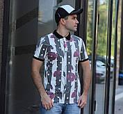 Модная мужская футболка- поло в модных летних принтах S, M, L, XL, XXL, фото 3