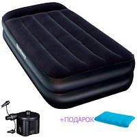 Надувная кровать. 198х99х46 см. Электронасос. Сумка-чехол. Нагрузка до 136 кг. BestWay 67401