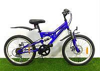 Детский двухподвесный велосипед Azimut Blackmount 20 D