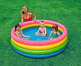 Детский надувной бассейн 168 х 41 см. Объем: 617 л. Радуга intex 56441, фото 3