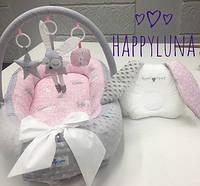 Кокон-гнездышко для новорожденных Happy Luna Зайка 2