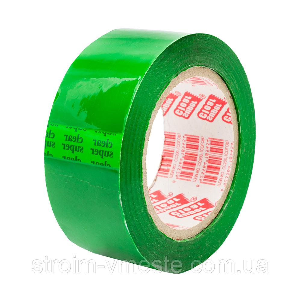 Скотч упаковочный зеленый Super Clear 45 мм x 100 м x 40 мкм