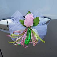 Украшение для свадебных машин- бантики на ручки автомобиля