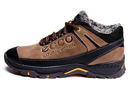 Мужские зимние кожаные ботинки Ecco Natural Motion Winter (реплика)