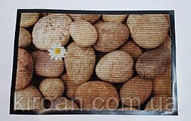 """Придверный коврик на резиновой основе 59х39 см """"Камни"""""""