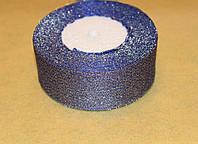 Стрічка парча 915-16 синя 40 мм