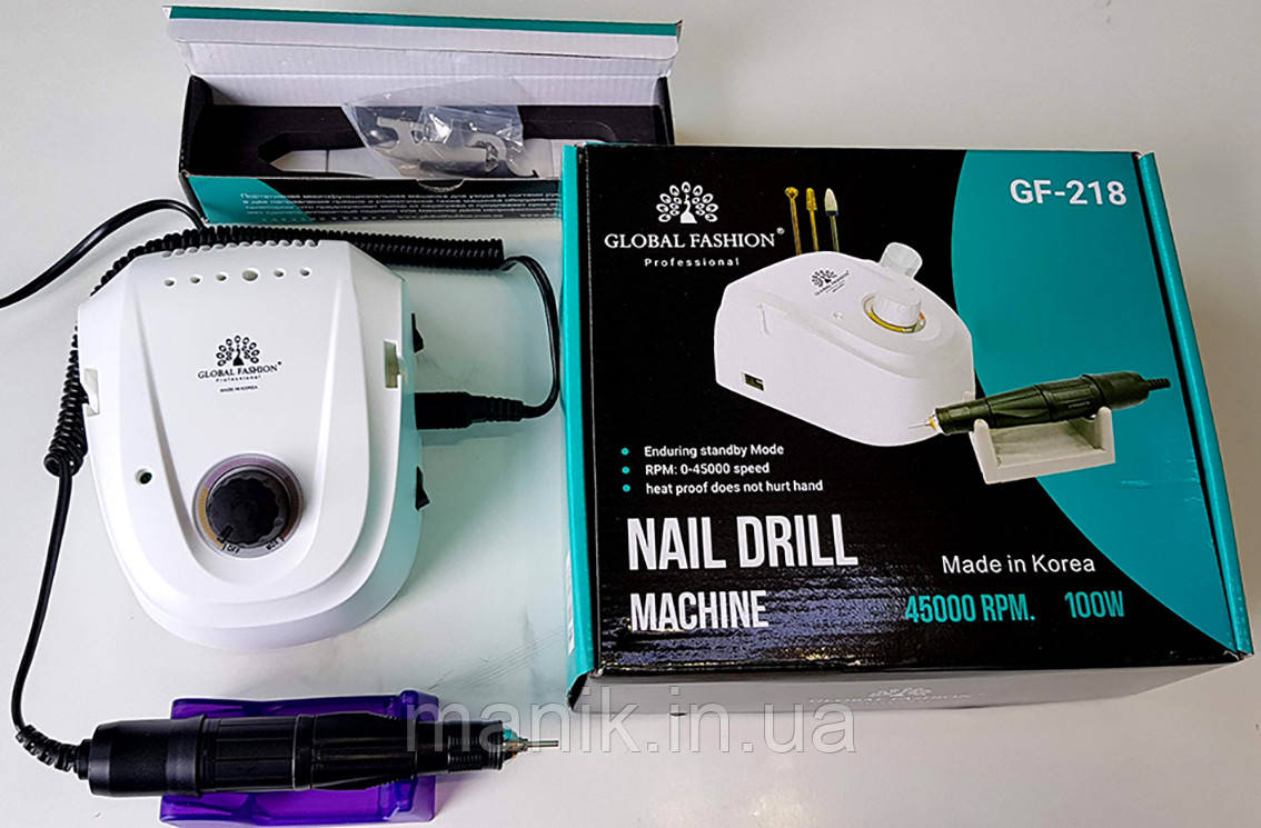Фрезер для маникюра - педикюра Global Fashion GF-218 45000об 100Вт