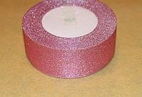Стрічка парча 915-17 рожева 40 мм