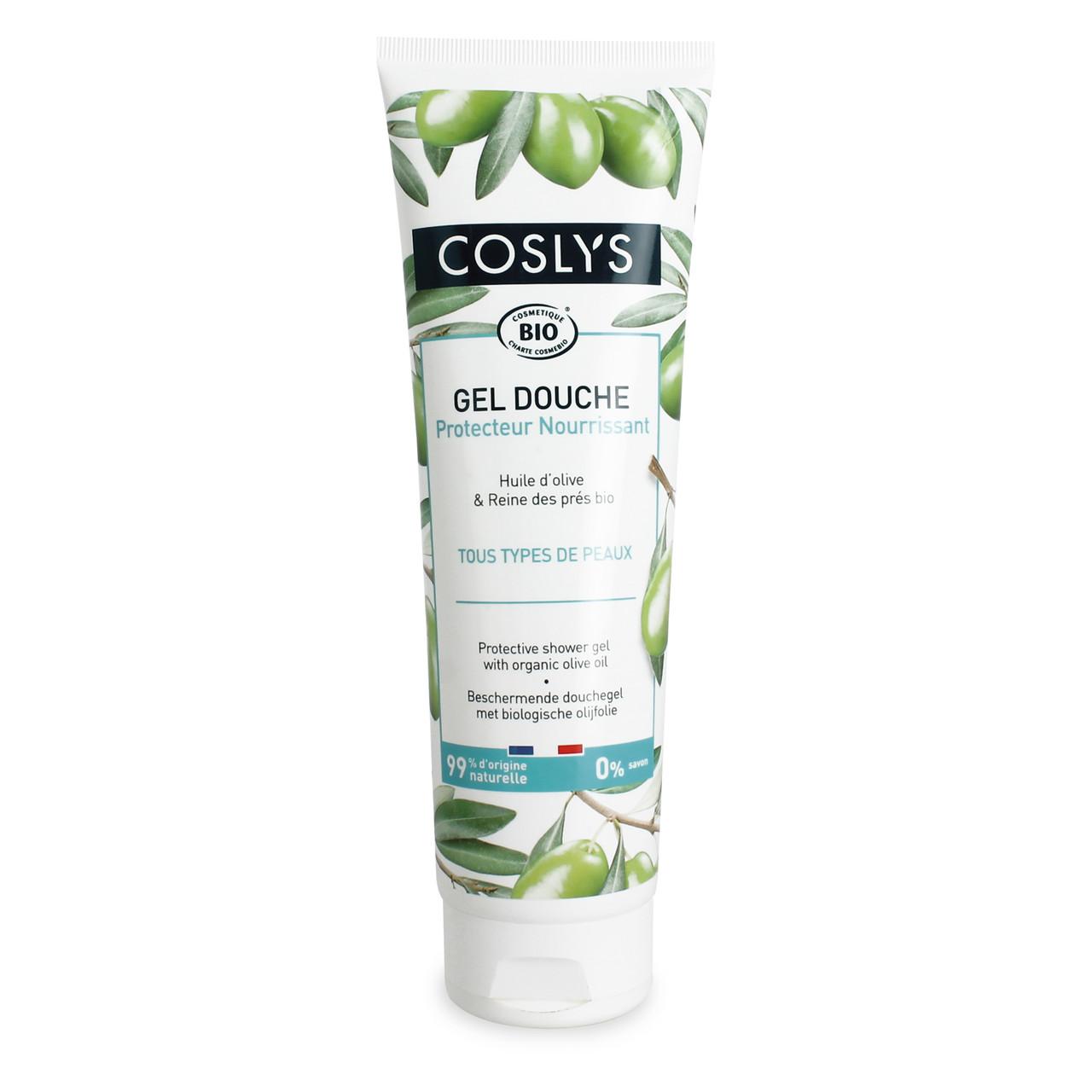 Гель для душа защищающий на основе оливкового масла Coslys,250 мл