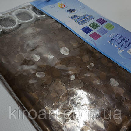 """Шторка для ванной 3D голограмма """"Камни"""" (Коричневый цвет), фото 2"""
