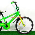 Детский велосипед Azimut Stitch 18 дюймов салатовый, фото 2