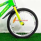 Детский велосипед Azimut Stitch 18 дюймов салатовый, фото 3