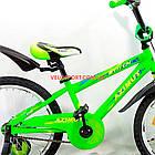 Детский велосипед Azimut Stitch 18 дюймов салатовый, фото 4
