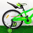 Детский велосипед Azimut Stitch 18 дюймов салатовый, фото 5