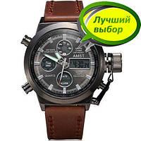 Стильные часы наручные мужские AMST AM3003-1 Brown-Black