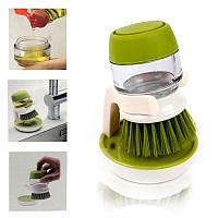 Щетка для мытья с диспенсером для жидкости soap brush