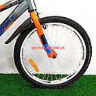 Детский велосипед Azimut Stitch 20 дюймов серый, фото 3