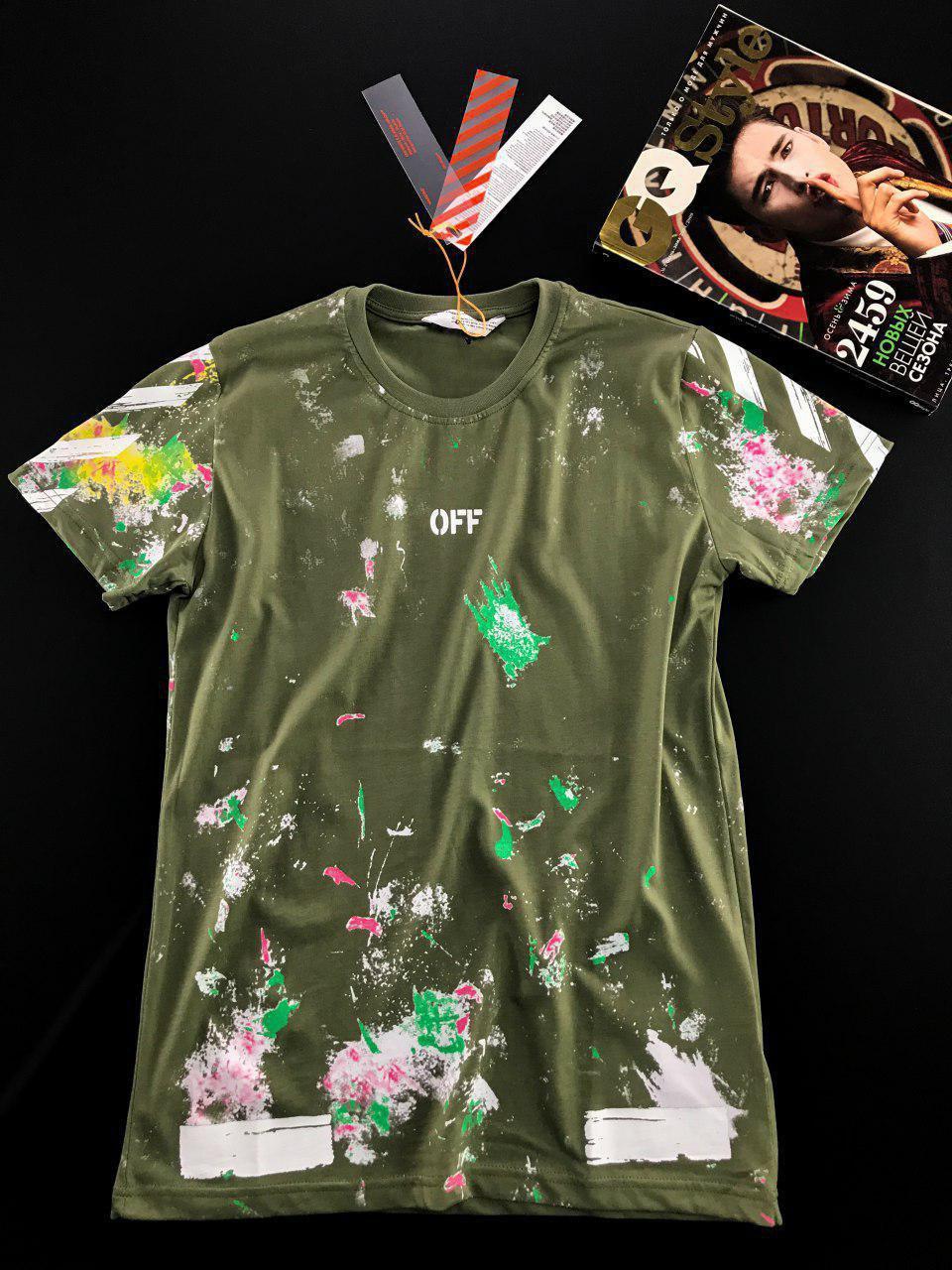 Модная молодёжная  футболка  ОФФ S, M, L, XL, XXL