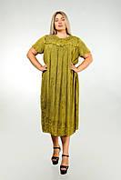 Платье бронзовое с рукавом, большой размер, на 56-66 размеры, фото 1