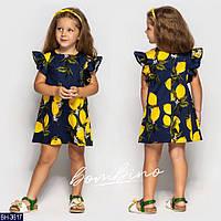 Платье детское летнее BH-3617 размер 92-122 см.