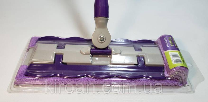 Швабра натирач з затиском для ганчірки (S6005) +1 запасна ганчірочка в подарунок, фото 2