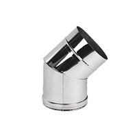Коліно із нержавіючоЇ сталі Versia-Lux ф 160 мм кут 45 гр товщина 0,6 мм