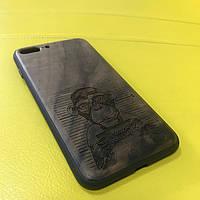 Деревянный чехол с лазерной гравировкой для Iphone
