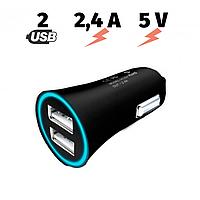 Автомобильное зарядное устройство адаптер Hoco UC204 2 USB Port 2.4A