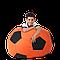 Кресло-мешок Мяч Хатка Оранжевый с черным, фото 2