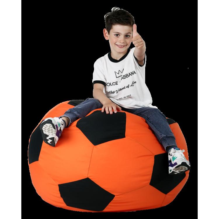 Кресло-мешок Мяч Хатка Оранжевый с черным