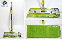 Швабра полотер с зажимом для тряпки (А6005) +1 запасная тряпочка в подарок, фото 1