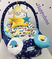 Кокон-гнездышко для новорожденных Happy Luna Баранчик