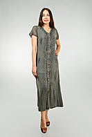 Длинное серое платье - халат, Индия, на 48-50 размер