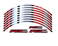 Наклейки на обод колеса RC Racing светоотражающие