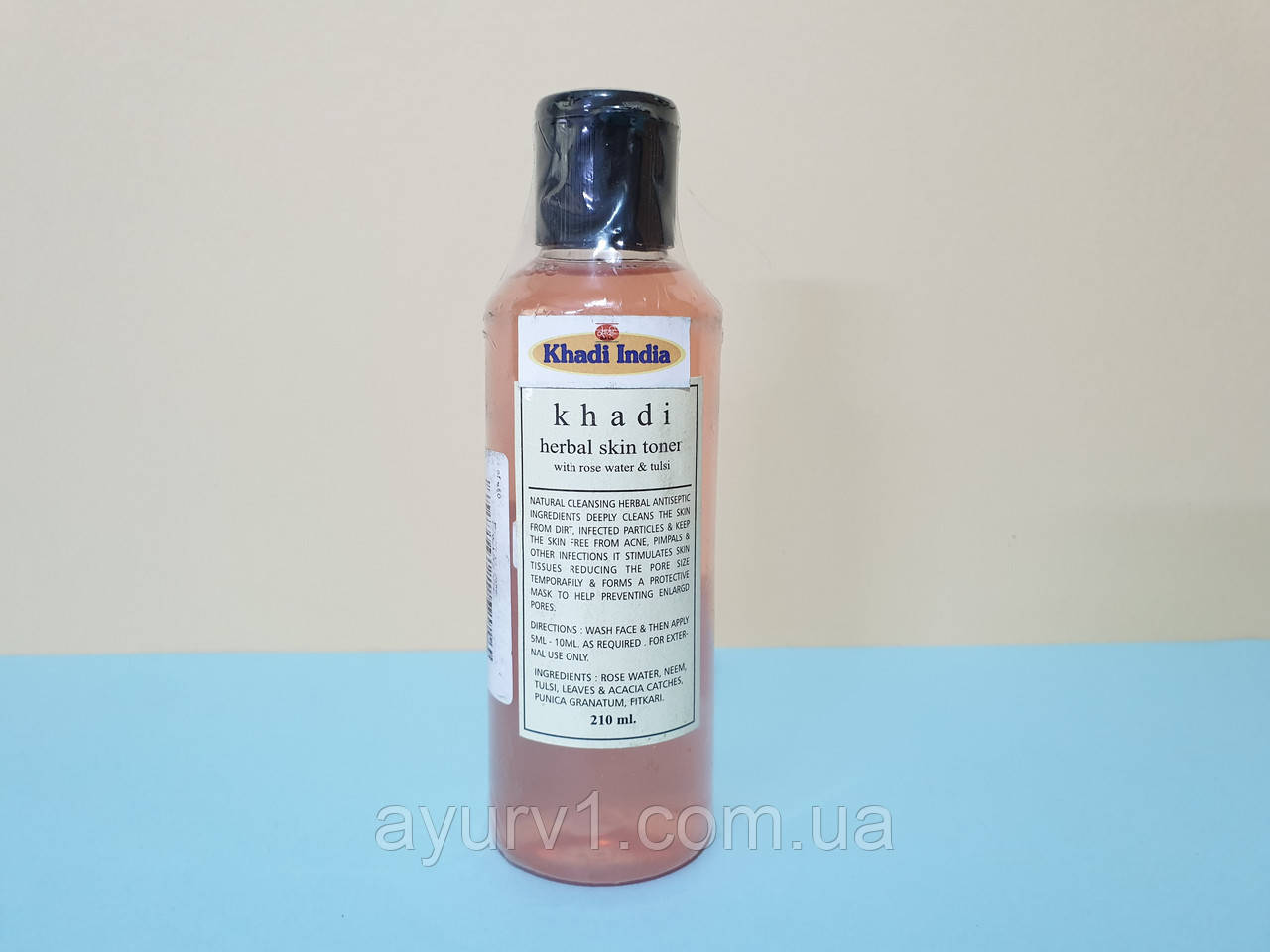 Тоник Розовая вода & тулси / Khadi herbal skin toner with rose water & tulsi / 210 ml
