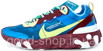 Мужские кроссовки Undercover X Nike Upcoming React Element 87 'Aqua/Volt-Purple Blue' (люкс копия)